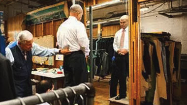 Ray Kelly being fitted for a suit by Martin Greenfield